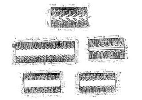 Pinceablak nyílászárók (fent: a Val d' Anniviersből; lent: Székelyföldről). (A. K. Fischer nyomán)