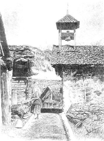 Chandolin (Sandolin) - A kápolna - 1900.