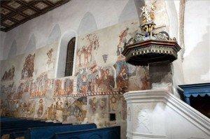 Székelyföld – A Bögözi református templom restaurált freskói