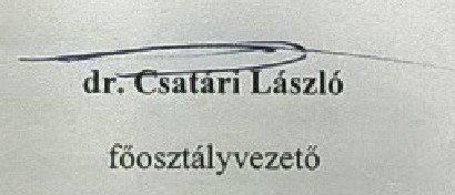 Csatári László aláírása (2017)