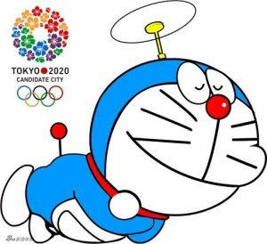 Doraemon a 2020-as tokiói olimpiai játékok robot macska kabalája