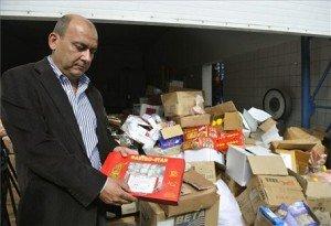 Hamisított élelmiszerek lefoglalása Kőbányán
