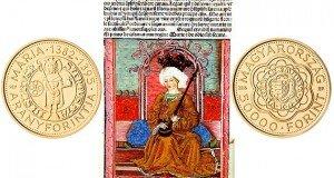 Emlékérme a Mária magyar királynő által kibocsátott aranyforint tiszteletére