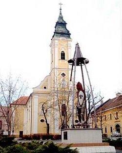 Nógrád vitéz a katolikus templommal
