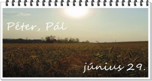 Az aratás napja: Péter-Pál