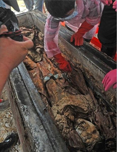 A Kínában feltárt fejedelmi sír. Fotó: China Watch