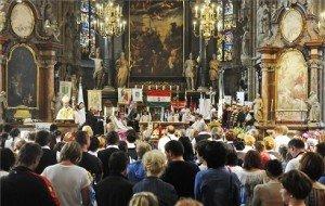 Magyar nyelvű mise Szent István emlékére a bécsi dómban