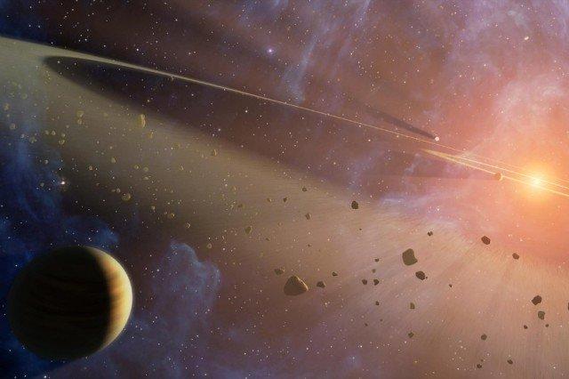 Fantáziarajz egy csillag körüli törmelékfelhőről (Forrás: NASA)