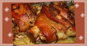 Kalóriadús ebéd az álom havában – Fokhagymás sült csülök