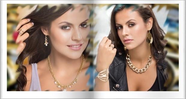 Aranyszínű nyakék rózsaszín elefánttal, színes kristályokkal, statement nyakék aranyszínű fémből és fekete-aranyszínű zsinórból
