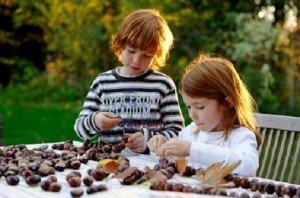 Gesztenye úton, útfélen – Bábukészítés gyerekeknek