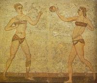 Az ókori mozaik jól mutatja a korabeli fürdőruha divatot