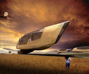 Futurisztikus otthon, bomba menedék