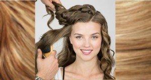 Hajkorona – Hullámos frizura készítése