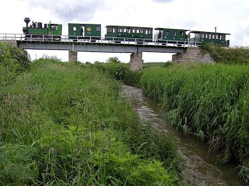 Ikva patak, felette a három nyílású Ikva - híd