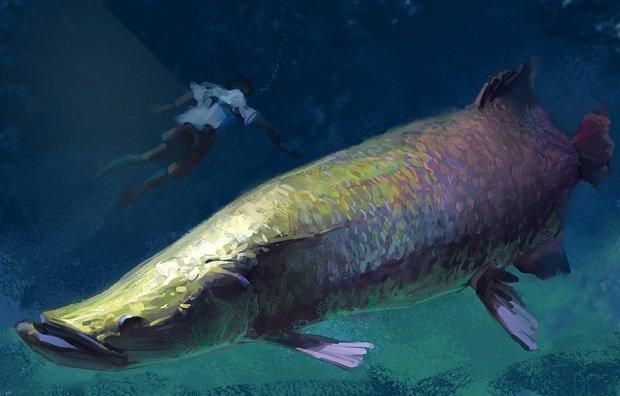 A Kanas tó szörnye a nagy piros hal. Az igazi szörny azonban gonosz emberek lelkében él.