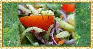 Kapros vitamintál friss zöldségekből