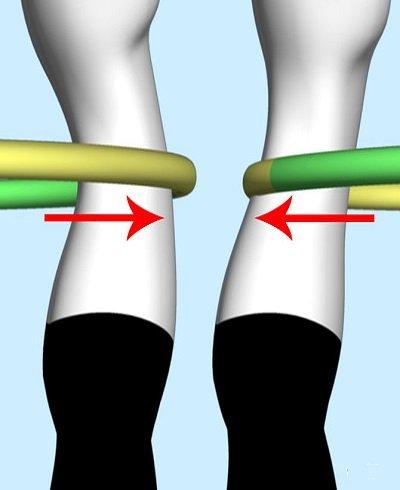 Amikor a karika gyomor tájékra érkezik, toljuk erősen előre csípőnket, amikor pedig hátunk felé közeledik, segítsünk a lendületen hátrafelé irányuló mozgással. A törzs előre-hátra mozgása fogja megadni a lendületet.