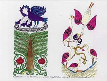 Közép-Ázsia területéről származó ősi kultúránk és vallásunk festészeti remekeit sok helyen templomokban őrzik. A Kárpát-medencében még a mai, erősen leromlott állapotban is több kazettás mennyezet található, mint a maradék Európában összesen. A noszvaji (Heves megye) mennyezetkazetták a Kazettás mennyezetek című művészeti kiállítási füzet hátsó borítóján.