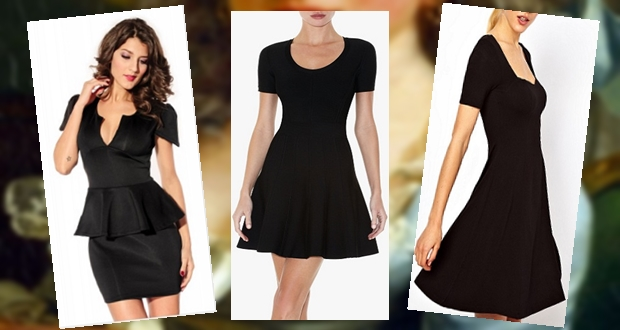 A mélyen dekortált ruha csábító, kisebb mellű hölgyeknek azonban inkább a kisebb kivágás ajánlott.