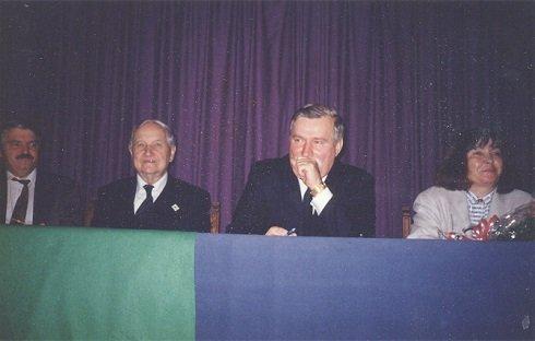 Szárszó konferencia Budapesten Lech Walessával, 1996