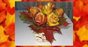 Őszi rózsacsokor