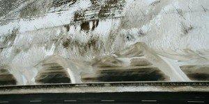 Szélfútta havas táj – Légi felvételek március 14-én