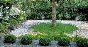 Kavics mozaik a kertben