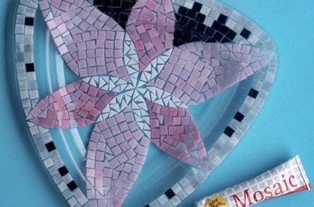 Mozaik készítés: PVC-csőből virágtartó