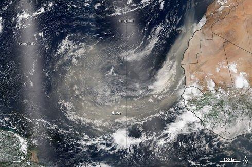 Több száz millió tonna homok jut át évente Afrikából, az Atlanti-óceánon keresztül