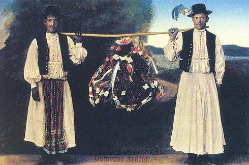 Az aratókoszorú fonása, hagyománya