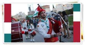 Palesztin karácsony Betlehem közelében