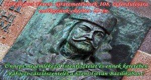 Október 25-én II. Rákóczi Ferenc újratemetésére emlékezünk