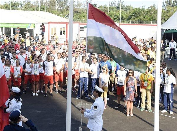 Riói nyári olimpia 2016 – Felvonták a magyar zászlót