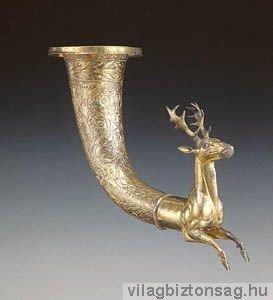 Párthus birodalom kincsei-ivókürt-csodaszarvas Szarvast formázó arany párthus ivókürt.