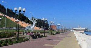 Szőke Gábor Miklós csodaszarvas szobrát kapta ajándékba Nyizsnyij Novgorod