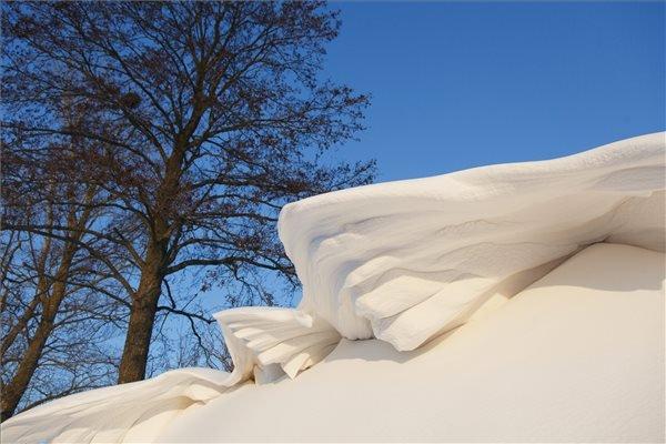 Hópárkány az út mellett a Zala megyei Pölöskefő közelében 2014. december 29-én. MTI Fotó: Varga György