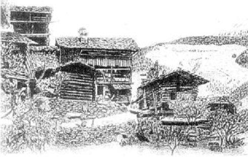 Pinsec (Penszék) - Pásztorkunyhó - 1915.