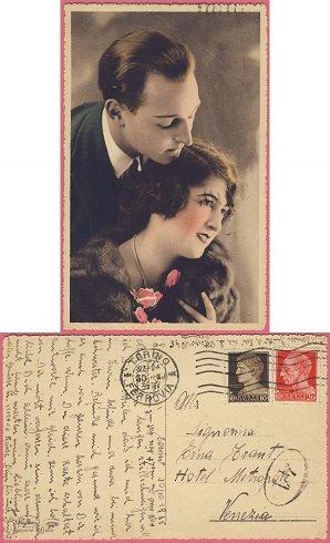 1930. október - A szerelem bájos megjelenési formája a képeslapon.