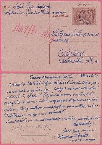 1957 június - Otthon a család pokoli hétköznapokat él meg: a hozzátartozó politikai fogoly, vagy bűnöző?