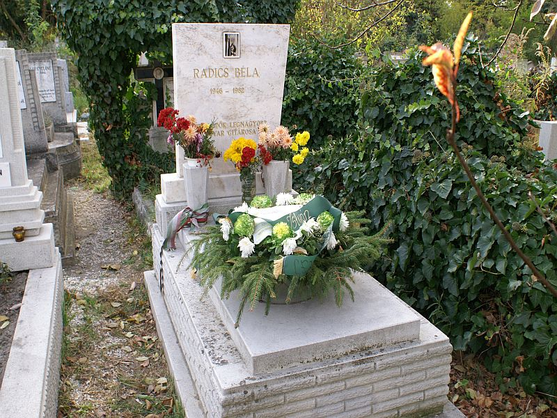 Radics Béla sírja Budapesten, az Újpest–Megyeri temetőben