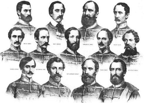 1849 október 6-án a nemzetünkért hősi halált halt vértanúink bocskaiban vesztették életüket. Az utókor méltó megemlékezésének egyik markáns kifejező eszköze a bocskai.