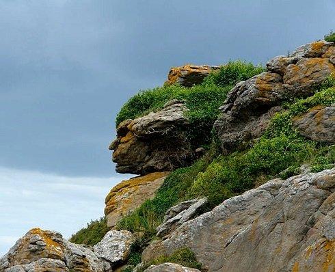 Apacs indián fej Franciaországban, Ebihensben. Fotó: eyetricks