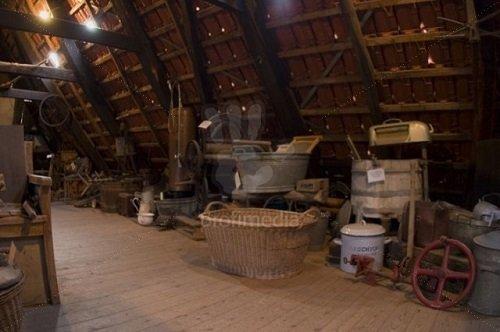 Dark attic in old German house
