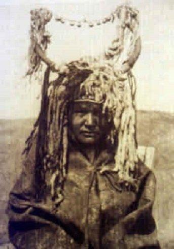 Szibéria területén élő sámán az 1950-es években